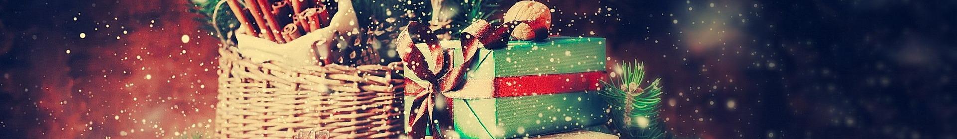 kosze świąteczne na prezenty
