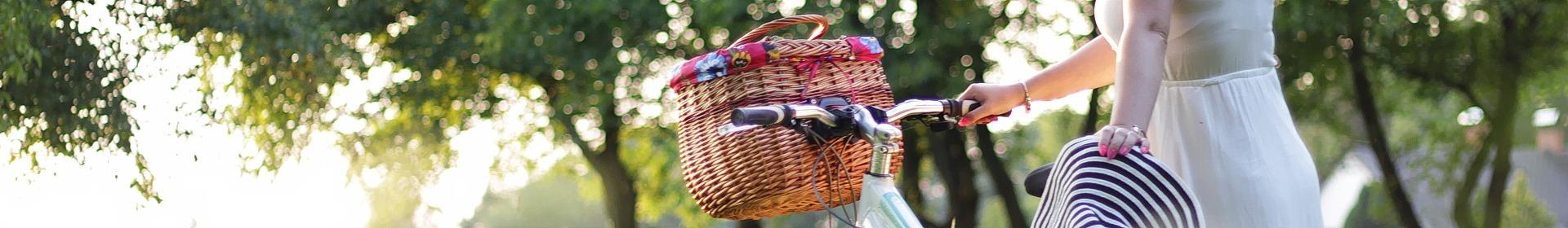 Torebki Kosze na rower z wikliny
