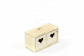 Drewniany pojemnik/ regalik