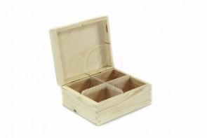Drewniany pojemnik na herbatę