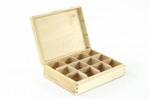 Drewniana szkatułka na herbatę