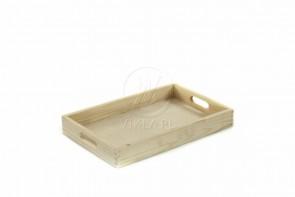 Taca prosta drewniana