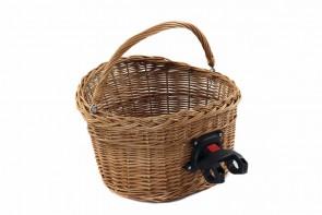 Wiklinowy koszyk na rower z klikiem
