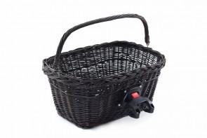 Wiklinowy kosz na rower z clickiem