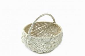 Biały koszyk piknikowy