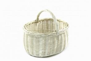 Kosz na piknik z wikliny bielonej