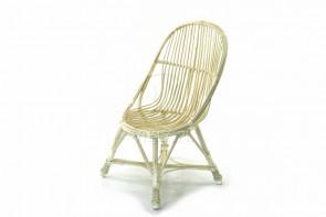 Fotel łezka wybielony