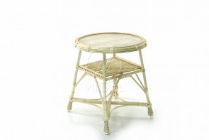 Stół okrągły wybielony