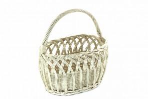 Ażurowy koszyk zakupowy biały