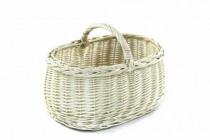 Koszyk wiklinowy biały