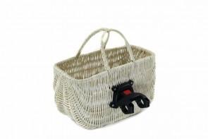 Kosz torebka na rower biała z klikiem