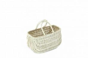 Wiklinowa torebka biała dla dziewczynki
