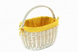 żółty z białymi kropkami