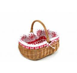 Koszyk  świąteczny prezentowy wyszyty