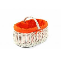 Koszyk z wikliny białej wyszyty