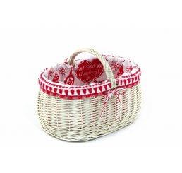 Wiklinowy koszyk prezentowy wyszyty
