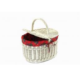 Koszyk piknikowy duży z materiałem