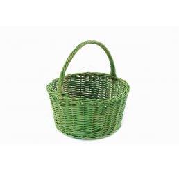 Wiklinowy koszyk na prezenty zielony