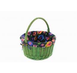 Piknikowy koszyk z wikliny malowanej