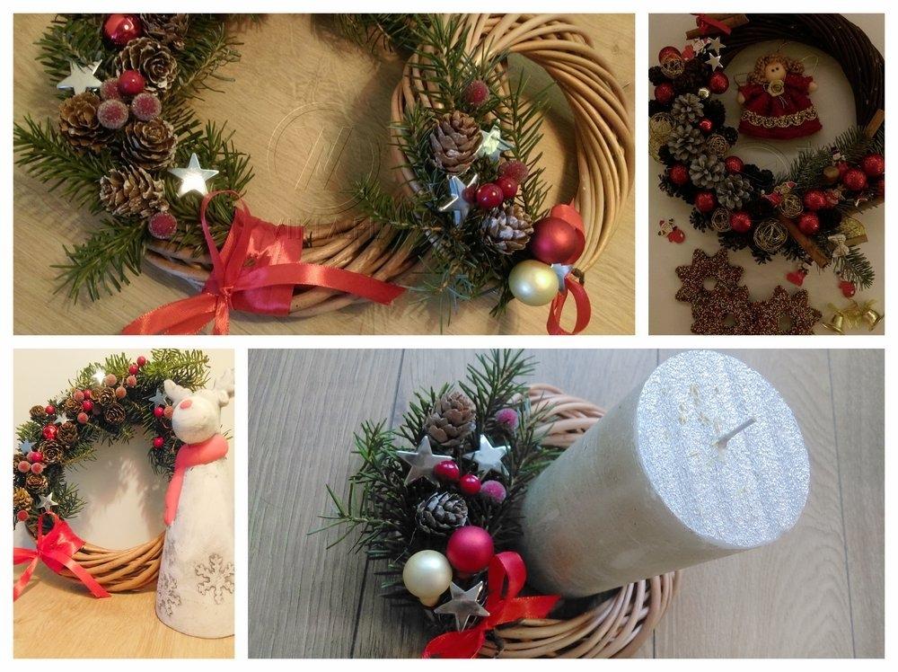 ozdoby świąteczne z wikliny